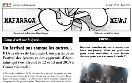 Lycée de Navarre - Journal - 10
